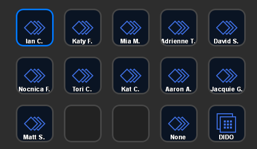 The Stream Deck panel I used for switching speaker info
